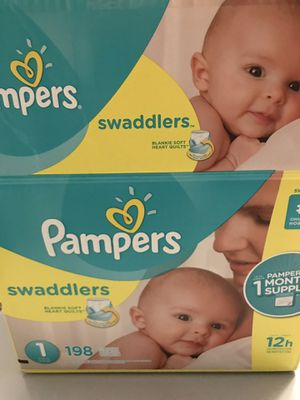Size 1 Pampers Swaddlers & Wipes for Sale in Hollywood, FL