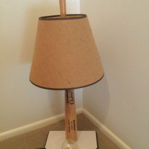 Baseball Bat Lamp With Home Plate And Ball Holder With Shade for Sale in Buffalo Grove, IL