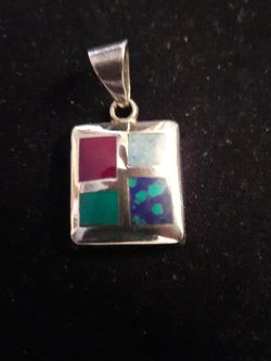 Sterling Silver Charm with Multicolor Stone for Sale in Mount Rainier,  MD