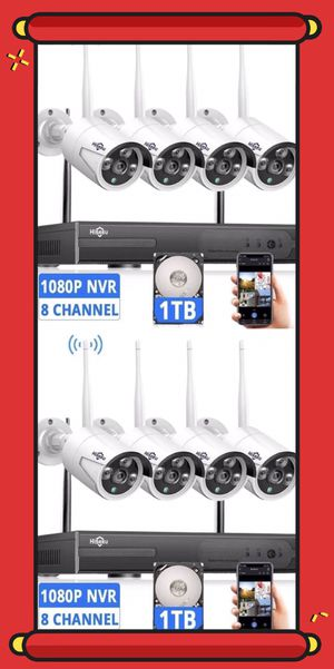 HD Wireless Security Camera System[Expandable 8CH] for Sale in Alhambra, CA