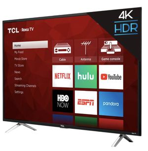 """TCL 49"""" Ultra HD Roku LED LCD TV for Sale in Miami, FL"""