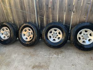 15 inch 6 lug rims with tires $350 for Sale in Galt, CA