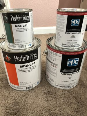 Gloss Black Epoxy Paint & Grey Primer $60 each for Sale in Fresno, CA