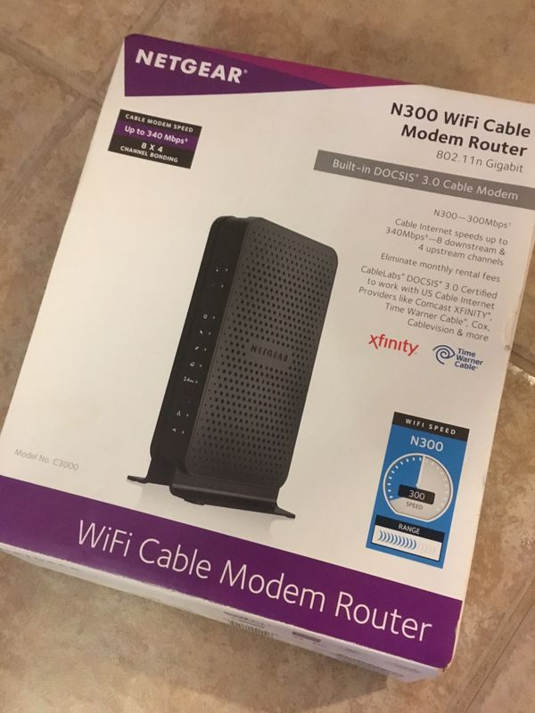 Netgear Wireless Gateway Cable Modem WiFi Router N300