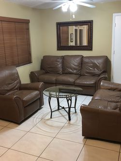 Sofa Set With Glass Table for Sale in Miami,  FL