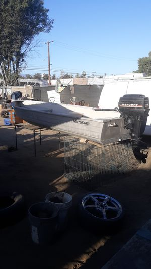 North port MirroCraft boat 9.8Mercury outboard for Sale in Upland, CA