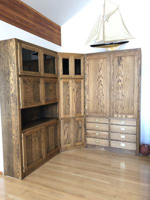 Free Oak entertainment center for Sale in Chelan, WA