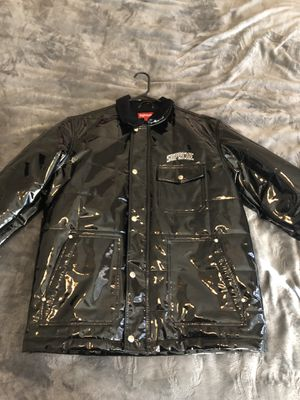 Supreme Quilted Patent Vinyl Work Leather Jacket for Sale in Mesa, AZ