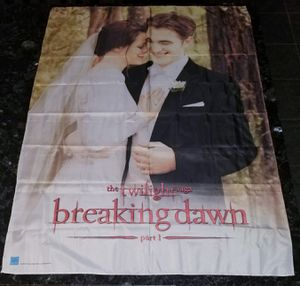 Twilight Saga Breaking Dawn 30x40 Wedding Photo Fabric Poster Scroll for Sale in Chula Vista, CA