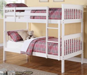 White Twin over Twin bunk bed for Sale in Tacoma, WA