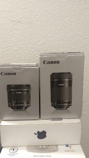 Canon EFS Lenses New open Box for Sale in San Diego, CA