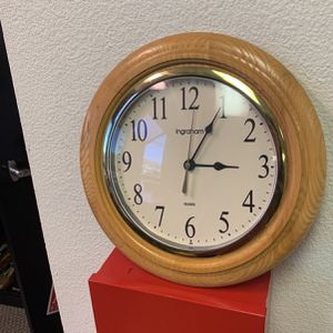 wooden trim clock for Sale in San Bruno, CA