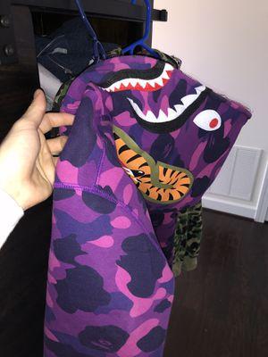 Bape purple full zip shark hoodie for Sale in Ashburn, VA