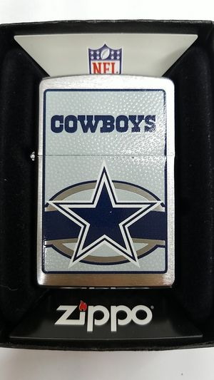 Zippo NFL Dallas cowboys brushed chrome 24614 for Sale in Los Angeles, CA