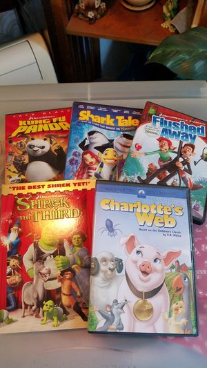 5 Dreamworks Dvds for Sale in San Diego, CA