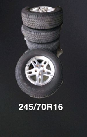 5 JEEP CHEROKEE RIM'S AND TIRES 1 SPARE NEW for Sale in Ontario, CA