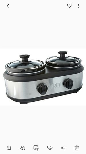 Like new 2 crock pot buffet set 1.25 qt pots for Sale in Wrightsville, PA