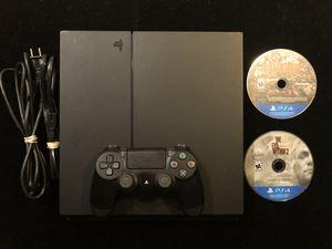 Sony Original PlayStation 4 PS4 500GB CUH-1215A Black Console+Controller+2 Games(Post Nintendo era) for Sale in Atlanta, GA