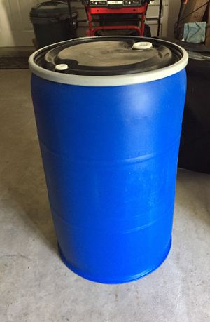 55 gallon Blue or Black Storage Barrel Container Bin! Use for shipping, storage or as a cooler! BRAND NEW, MINT for Sale in Lynn, MA