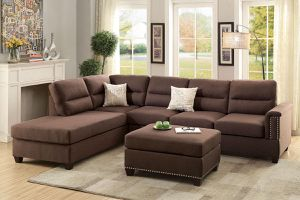 Sectional sofa with ottoman on sale @ Elegant Furniture 🛋🎈🛏 for Sale in Fresno, CA