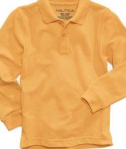 Nautica Long-Sleeve School Uniform Polo, Little Boys Size: S (4)Color: Gold for Sale in Bloomfield,  NJ
