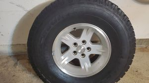 Selling 5 wheels with tires for jeep wrangler tj. for Sale in Chula Vista, CA