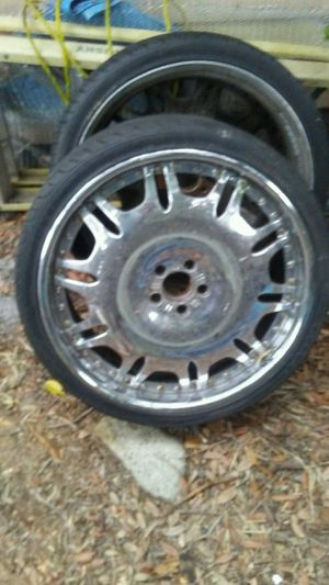 "20"" chrome rims tires good for Sale in Orlando, FL"