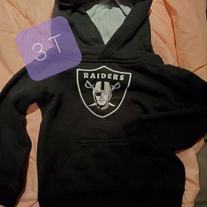 Raiders NFL Sweatshirt 3T Kids Toddlers for Sale in Dinuba, CA