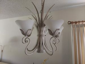 Beautiful white-washed chandelier. PRICED TO SELL, All must go! $50 OBO for Sale in Tarpon Springs, FL