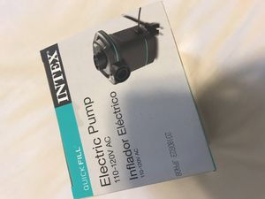 Intex Electric pump 110-120V AC for Sale in Brooklyn, NY