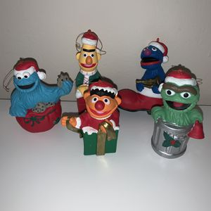 1993 Vintage Seasme Street Ornaments (5pack) for Sale in West Hartford, CT