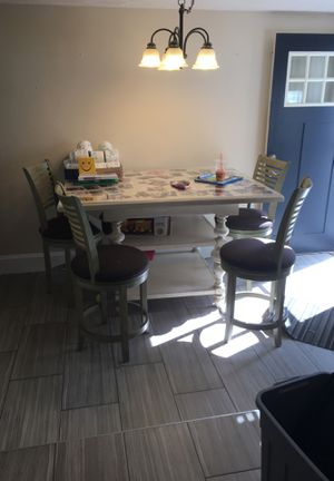 Bar height table and chairs for Sale in Weymouth, MA