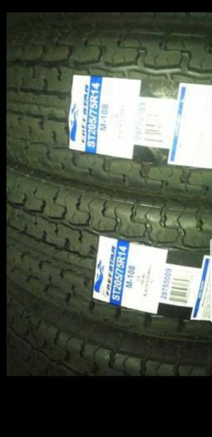 4 New 205-75-14 Freestar trailer tires 205/75/R14 inch 6ply C Load tire for Sale in Moreno Valley, CA