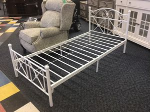 New White Twin Platform Bed Frame for Sale in Virginia Beach, VA