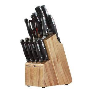 Full Knife Block Set Chef's Wooden Steak Knives Kitchen for Sale in Santa Fe, NM