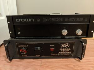 Lot of 2 power amplifiers for Sale in Silver Spring, MD
