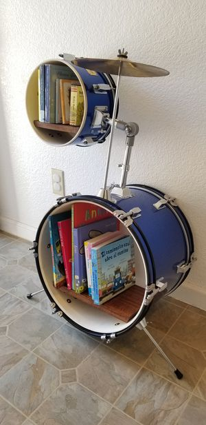 KIDS DRUMS BOOK SHELF AND CLOCK 😊 for Sale in San Jose, CA