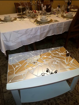 Mirror mosaic table for Sale in Christiansburg, VA
