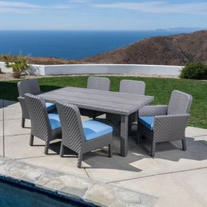 New 7pc outdoor patio furniture dining set sunbrella tax included for Sale in Hayward, CA