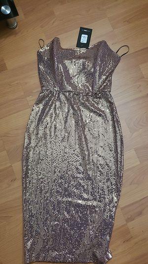 Fashion nova dress gold rose for Sale in Carol City, FL
