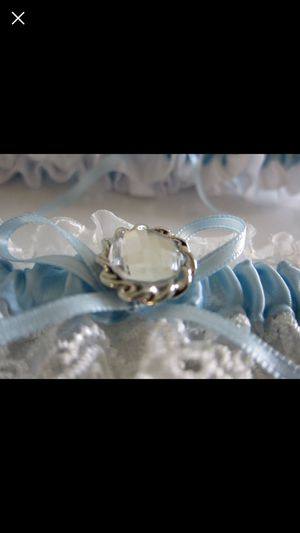 Wedding Garter Blue Garter Set Keepsake and Toss Garter for Sale in Chantilly, VA