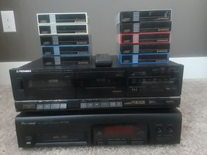 Pioneer PD-M426 6-Disc Magazine CD Player and Pioneer Stereo Double Cassette Tape Deck CT-980W for Sale in Gig Harbor, WA