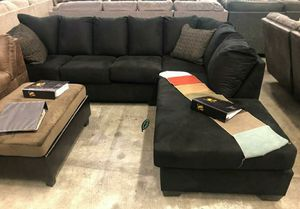 🍒 BEST Offer SPECIAL] Darcy Black RAF Sectional 65 for Sale in Jessup, MD