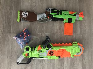 Working chainsaw and rifle Nerf guns with darts for Sale in Fort Lauderdale, FL