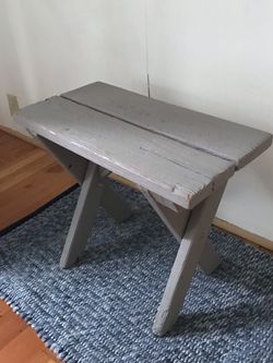 Painted Grey Wood Bench for Sale in Milwaukie,  OR