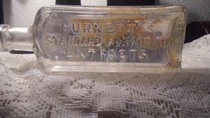Antique Burnetts Standard Flavoring Bottle 1920's for Sale in Las Vegas, NV