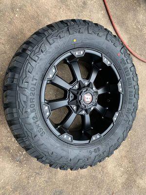 "New 20"" black ballistic rims and Tires 20 Wheels 20s Rims y Llantas will Fit Ford F150 , Chevy Silverado, GMC Sierra , Toyota Tacoma / 4Runner , Niss for Sale in Dallas, TX"
