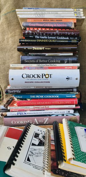 30 + lot of cookbooks and recipe cook books. for Sale in Roseville, CA