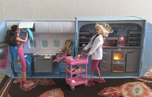 2007 Barbie Party Plane & Ship Jet Airplane cruise set for Sale in Tacoma, WA