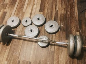 Weights w/ Curl Bar for Sale in Springfield, VA